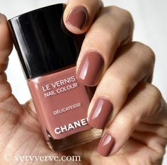 veryverve: Chanel Provocation and Délicatesse nail polish swatches, fall winter 2012 2013 trend. La provocante Lipstick. VFNO 2012. Either v...