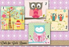 Sweet Owl Artwork for Girls' Bedrooms from Oopsy Daisy, Fine Art for Kids