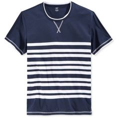 Inc International Concepts Men's Voss Stripe T-Shirt, ($25) ❤ liked on Polyvore…