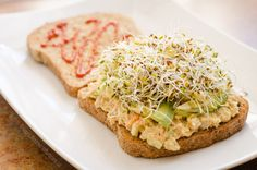 Vegan Tuna Sandwich Low Angle