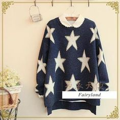 Star Print Sweater from #YesStyle <3 Fairyland YesStyle.com