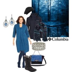 """Winter enchantment in shades of blue"" by maria-kuroshchepova on Polyvore"