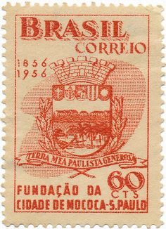 1956 Brazilian Stamp - Foundation of the city of Mococa