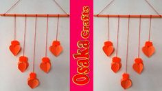 Wall Hanging Idea!! How to Make Paper & Pom Pom Wall Hanging !!!!