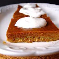 Pumpkin Pie Sheet Cake on BigOven: