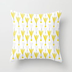 Small Spring Yellow Floral on White Background Throw Pillow by pivivikstrm Couch Pillows, Down Pillows, Floor Pillows, Pillow Sale, Designer Throw Pillows, Pillow Design, Home Buying, Pillow Inserts, Framed Art Prints