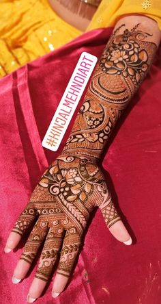 For mehndi order bookings and classes contact 09833887817 Arabic Bridal Mehndi Designs, Engagement Mehndi Designs, Full Hand Mehndi Designs, Henna Art Designs, Mehndi Designs 2018, Dulhan Mehndi Designs, Mehndi Design Photos, Mehendi, Beautiful Mehndi Design