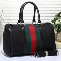Gucci Women Leather Luggage Travel Bags Tote Handbag from Best Gifts. #musthave. Shop more products from Best Gifts on Wanelo.