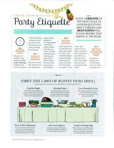 How to proper set a buffet, Party Etiquette Planning Menu, Party Planning Checklist, Dining Etiquette, Etiquette And Manners, Table Manners, Festa Party, Party Buffet, Vintage Modern, Party Entertainment