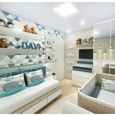 Does the thought of your home's interior leave you feeling a bit nonplussed? There are easy things that you can do to make you room have a new look and feel. Baby Bedroom, Baby Room Decor, Girls Bedroom, Baths Interior, Kids Room Design, Spare Room, Room Paint, Modern Room, Room Colors