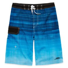 Blue Ombre Stretch Swim Shorts – Boys 8-20  found at @JCPenney