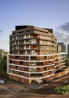 El edificio se desarrolla en un terreno de esquina en la localidad de Vicente…