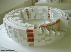 Stadium Like housing http://architecturalmodels.tumblr.com/page/4
