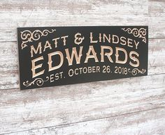Last Name Signs, Family Name Signs, Popular Last Names, Name Plaques, Personalized Signs, Dating, Lettering, Hands, Graphics