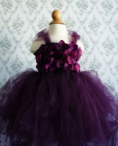 Gorgeous Flower Girl Tutu Dress Photo Prop in Deep by FashionTouch, $60.00 perfect for matching that long dress for the bridesmaids