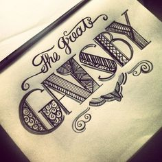 Okay there are two amazing things about this... The lettering and the fact that it says the great gatsby