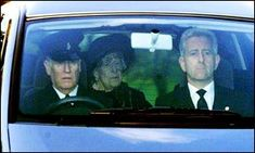 The Queen Mother summoned her strength to attend the funeral of her daughter, Princess Margaret, February 2002.
