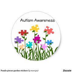 Puzzle pieces garden stickers