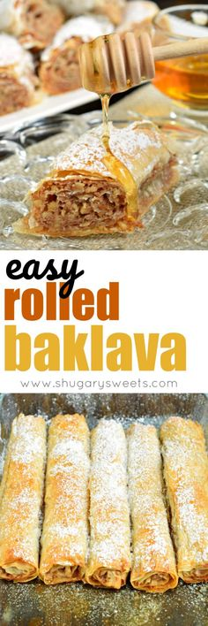 You Have Meals Poisoning More Normally Than You're Thinking That Sweet And Flaky, This Easy, Rolled Russian Baklava Will Melt In Your Mouth Phyllo Dough, Nuts, And Sugar Never Tasted So Good Dessert Simple, Phyllo Dough Recipes, Cookie Recipes, Dessert Recipes, Baklava Recipe, Baklava Cheesecake, 13 Desserts, Russian Recipes, Greek Recipes