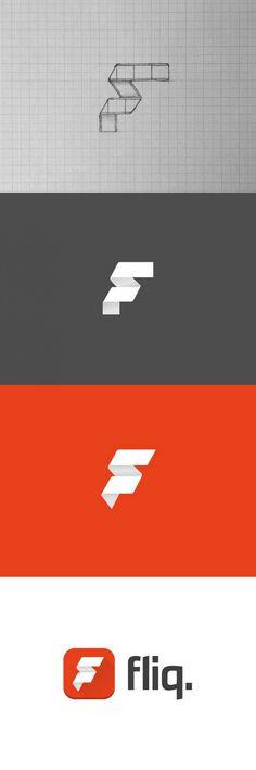 Creative Logo, Design, Fliq, Movie, and App image ideas & inspiration on Designspiration Web Design, Great Logo Design, Great Logos, 2 Logo, Typography Logo, Logo Branding, Lettering, Creative Logo, Ideas Para Logos