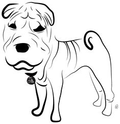 This is my baby, Ollie! He's an 8mo Chinese Shar Pei. Charity Pups raises awareness and dollars for a different animal-related non-profit each month through dog illustrations.