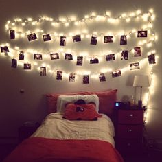 College dorm room.... Smart idea with the lights!