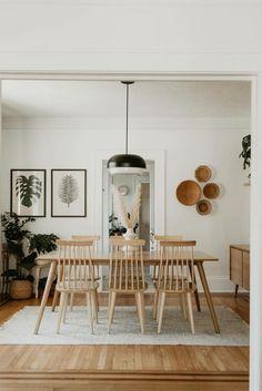 Bedroom Minimalist, Minimalist Home, Minimalist Interior, Design Living Room, Dining Room Design, Ikea Dining Room, White Farmhouse Sink, Decoration Chic, Dining Room Inspiration