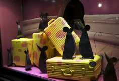 """They are the same colour as cheese ?"", pinned by Ton van der Veer Parisian Store, Pink Sheep, Cafe Interior Design, Best Luggage, Rimowa, Visual Display, Young Fashion, Stage Design, Window Design"