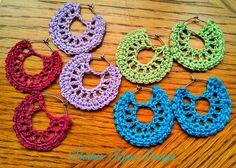Simple Summertime Crochet Earrings By Beatrice Ryan Designs - Free Crochet Pattern - (ravelry)