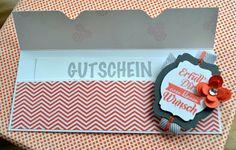 klikaklakas kreativer kram: Gutscheinverpackung mit dem neuen Stanz- und Falzbrett für Umschläge