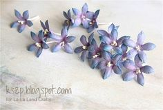 The most AWESOME TUTORIAL on our blog today! Klaudia will show you how to make GORGEOUS handmade Bellflowers using La-La Land Crafts Lotus Die! http://lalalandcrafts.blogspot.com/2014/04/tutorial-thursday-bellflowers.html