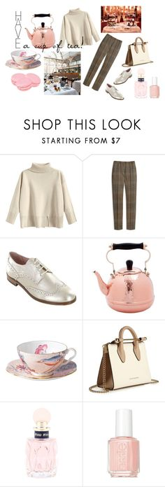 """""""have a cup of tea!"""" by steffi-88 ❤ liked on Polyvore featuring Mulberry, Summit by White Mountain, Old Dutch, Wedgwood, Strathberry, Miu Miu and Essie"""