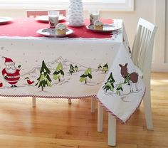 1000 Images About Christmas Linen On Pinterest