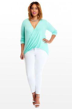 Plus Size High-Low Wrap Blouse | Fashion To Figure