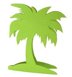"""Teda Crafts Laser cut  palm tree place card 3.5"""" x 2""""  with names"""