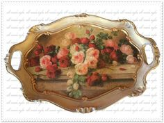 polyester tepsi  çatlatılmış:) Coffee Tray, Painted Boxes, Tole Painting, Decorative Items, Diy And Crafts, Craft Projects, Art Deco, Create, Decoupage