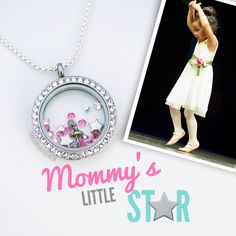 For the previous little ballerina in your life.  Capture the moments, in an Origami Owl locket. #Ballet #dancer #tinydancer #ballerina #Locket #OrigamiOwl.  To place your order, visit my website at www.tangkedinlockets.origamiowl.com