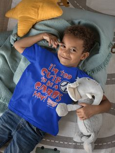 Chicago Fans. I'm Too Cute. Blue Onesie (NB-18M) or Toddler Tee (2T-4T – Smack Apparel Chicago Cubs Fans, Game Day Shirts, Championship Game, Previous Year, Clothing Company, Onesies, Shirt Designs, Tees, T Shirts