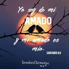 """""""Yo soy de mi amado, y mi amado es mío; El apacienta entre los lirios."""" Cantares 6:3 https://sendaseternas.blogspot.com.es/2017/01/yo-soy-de-mi-amado.html #versiculos #Biblia"""