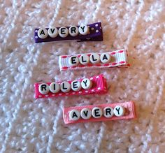 Personalized Hair Clip  Personalized Name Hair by NeverlandNook, $3.00