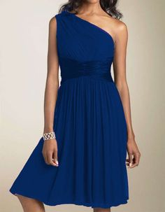 Womens Chiffon Cocktail Formal Party Evening Prom Ladies Dress Plus Sizes 8-20 #OneShoulder #Formal
