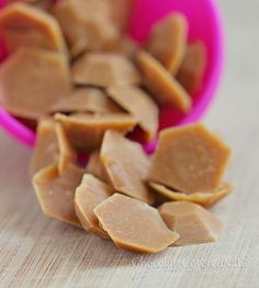 3 Ingredient Peanut Butter Chips THM So healthy and so delicious, can be made using regular PB.