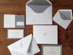 Invitaciones de boda plumetti gris