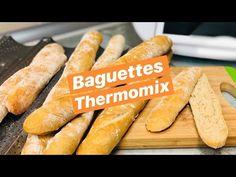 BAGUETTES CASERAS Y FACILES THERMOMIX - YouTube Hot Dog Buns, Sweet Potato, The Creator, Bread, Vegetables, Grafiti, Youtube, Videos, Gastronomia