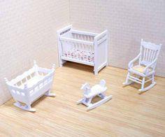 Puppenhaus Kinderzimmer weiss 4 Teile Puppenhausmöbel 1:12 Melissa & Doug | MD12585 / EAN:0000772125857
