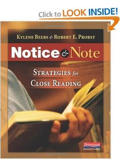 Notice and Note: Strategies for Close Reading: Kylene Beers, Robert E. Probst: 9780325046938: Amazon.com: Books