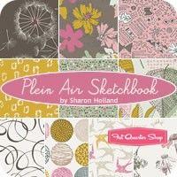 Plein Air Sketchbook Fat Quarter Bundle<BR>Sharon Holland for Art Gallery Fabrics