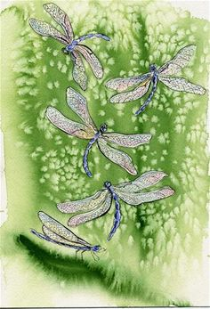 """""""Dragonfly Reality"""" - Original Fine Art for Sale - © Michelle Wolfe"""