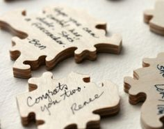 baby shower guest book using puzzle pieces