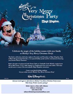 "Walt Disney World ""Very Merry Christmas Party"" Disney World Planning, Disney World Vacation, Walt Disney World, Disney Travel, Disney Vacation Club, Disney Vacations, Disney Trips, Vacation Deals, Disney World Christmas"